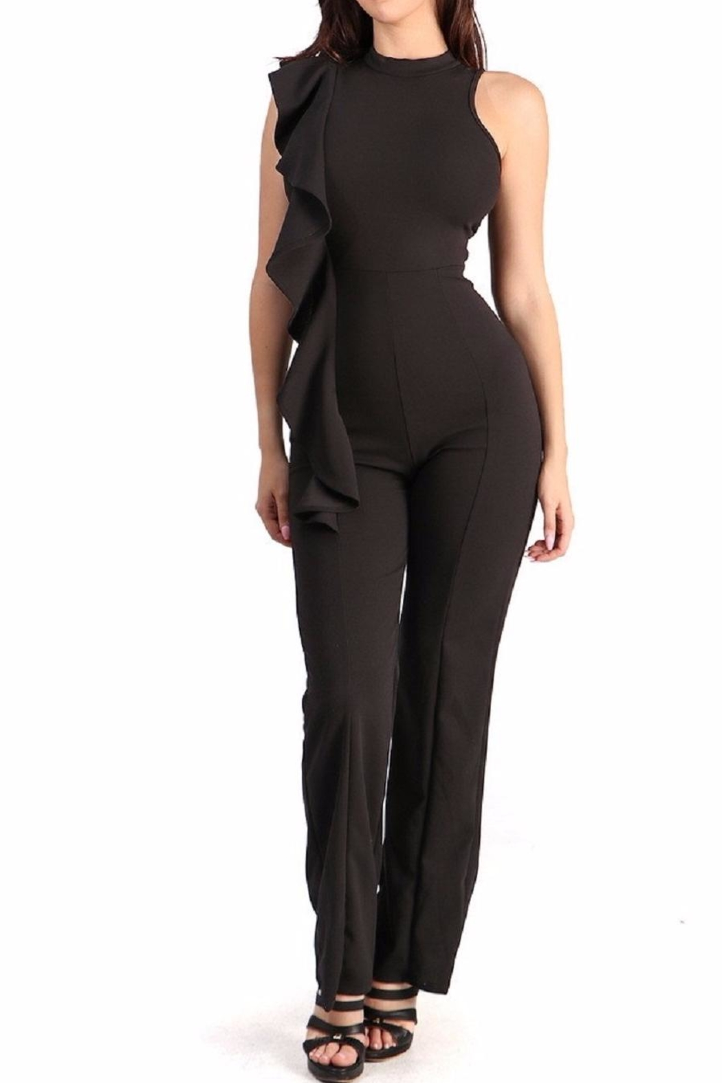 WTD Jumpsuit With Ruffles - Main Image