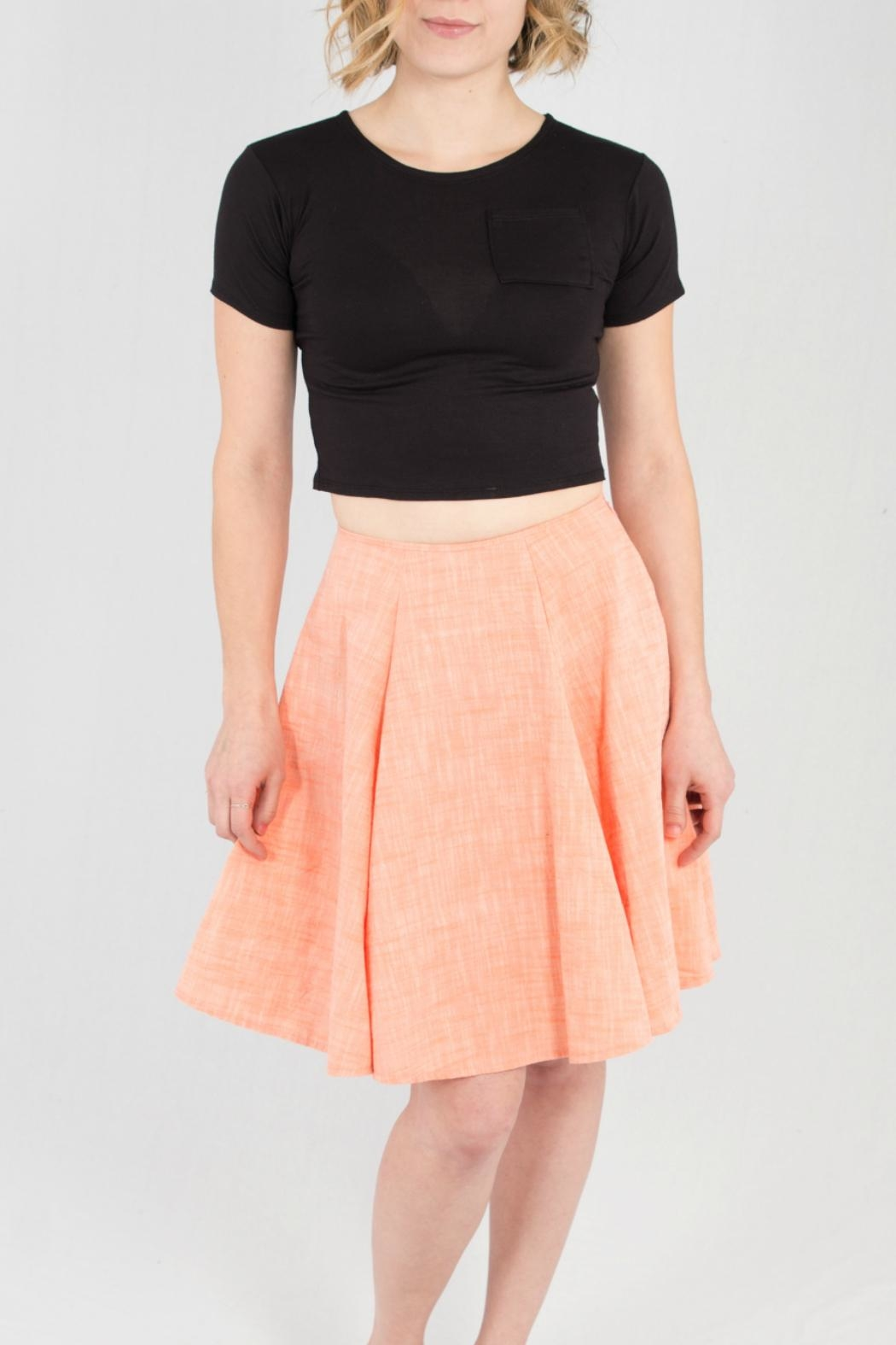 Wulfka A-Line Linen Skirt - Front Cropped Image