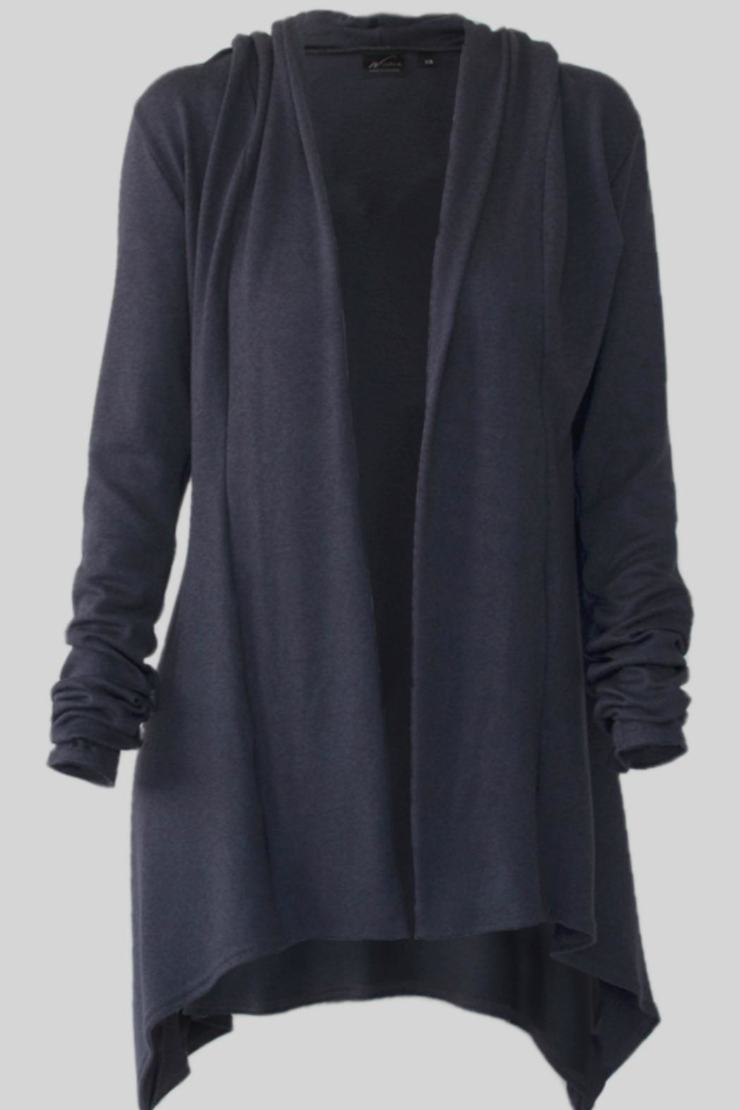 Wulfka Sumptuous Hooded Cardigan - Front Cropped Image