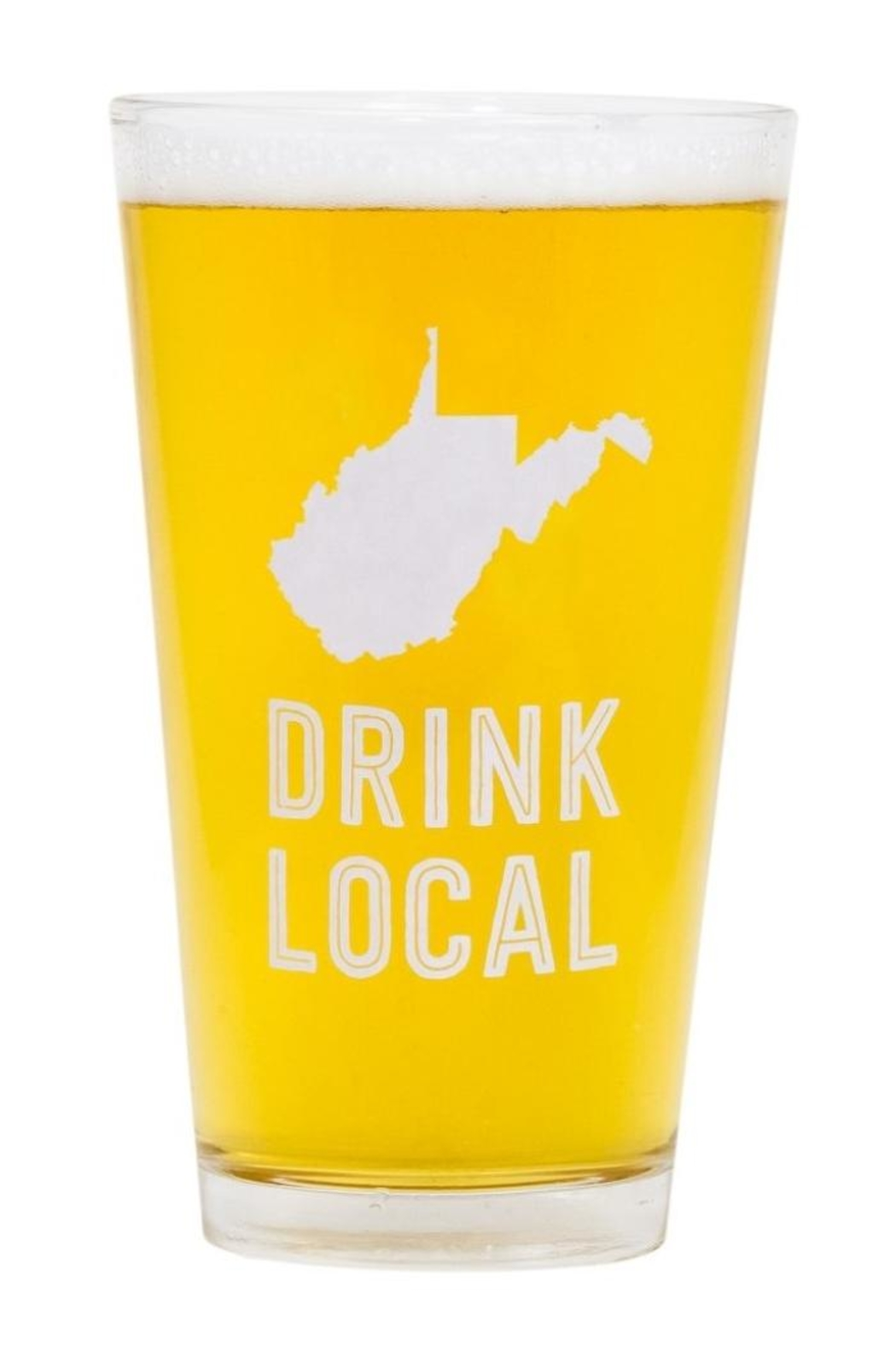 About Face Designs Wv Pint Glass - Main Image