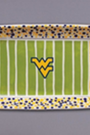 Magnolia Lane Wvu Field Platter - Front cropped