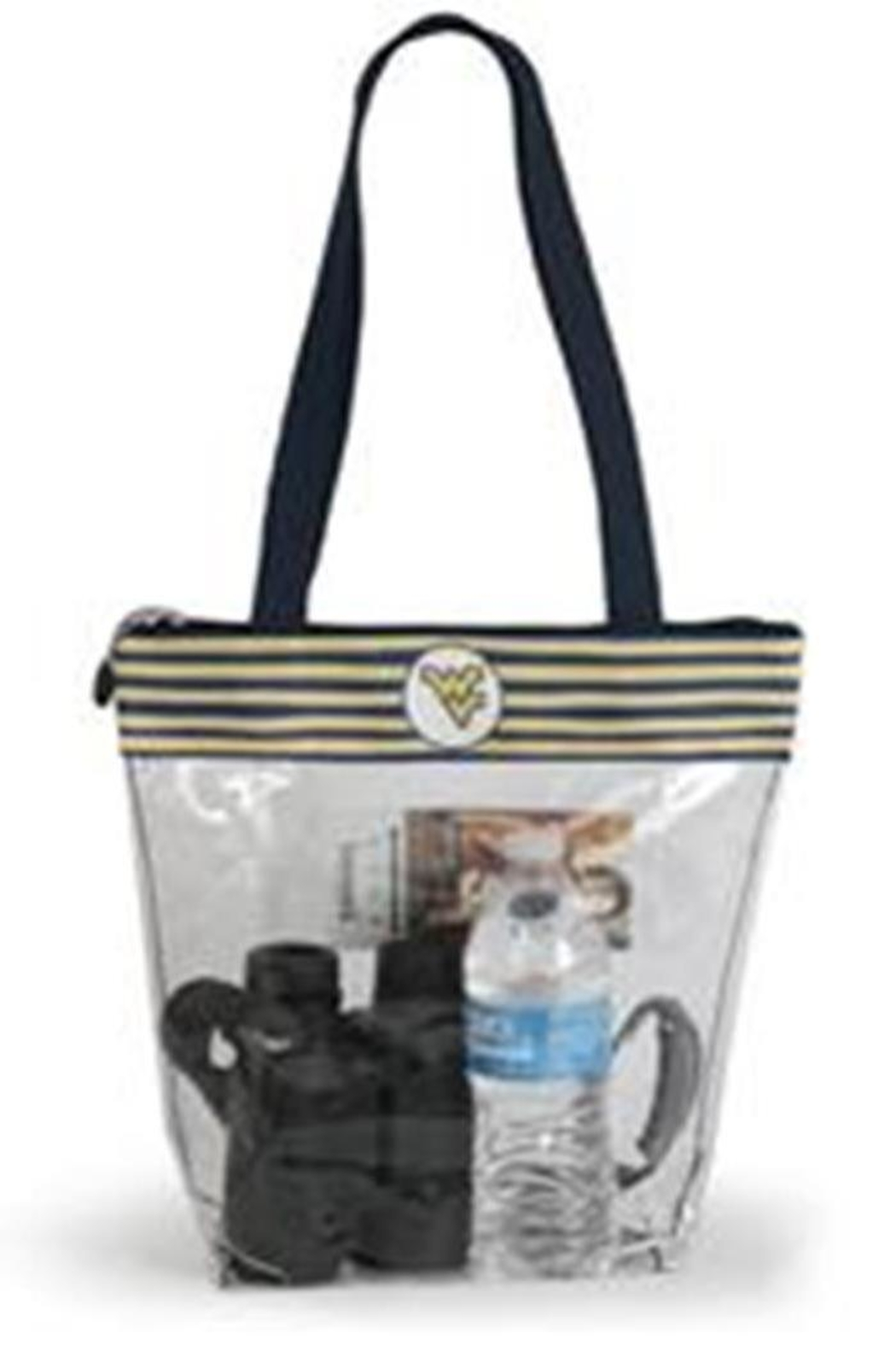 Desden Wvu Striped Stadium-Tote - Front Cropped Image