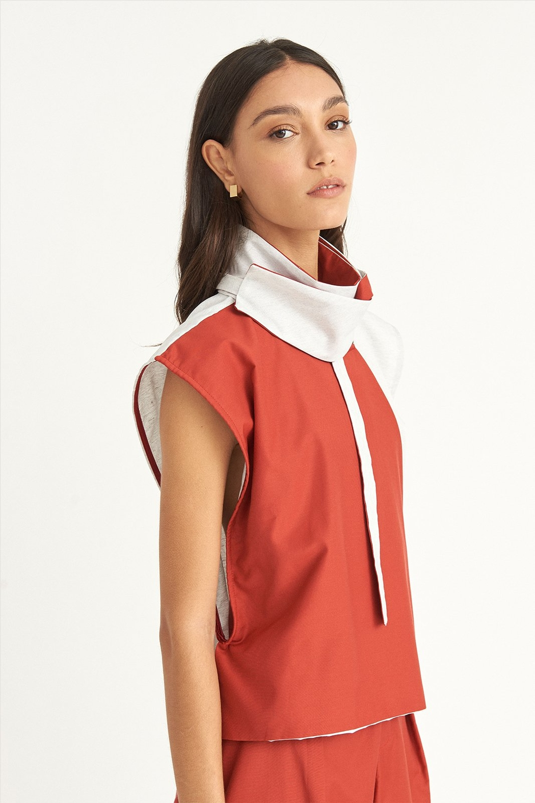 WYLDE Chouaib Colorblock Top - Front Full Image