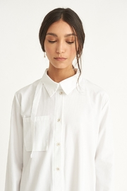 WYLDE Sophie White Shirt Dress - Back cropped