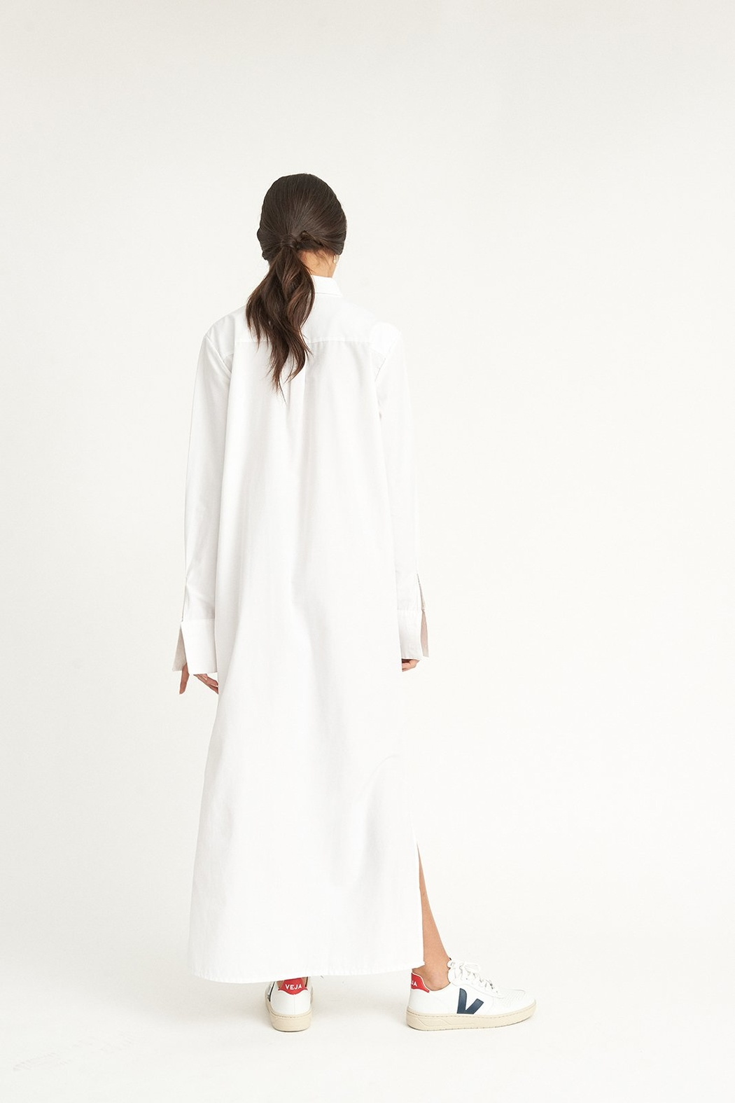 WYLDE Sophie White Shirt Dress - Side Cropped Image