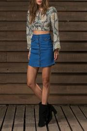 WYLDR  Alabama Skirt Denim - Front cropped