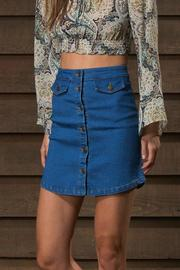 WYLDR  Alabama Skirt Denim - Front full body