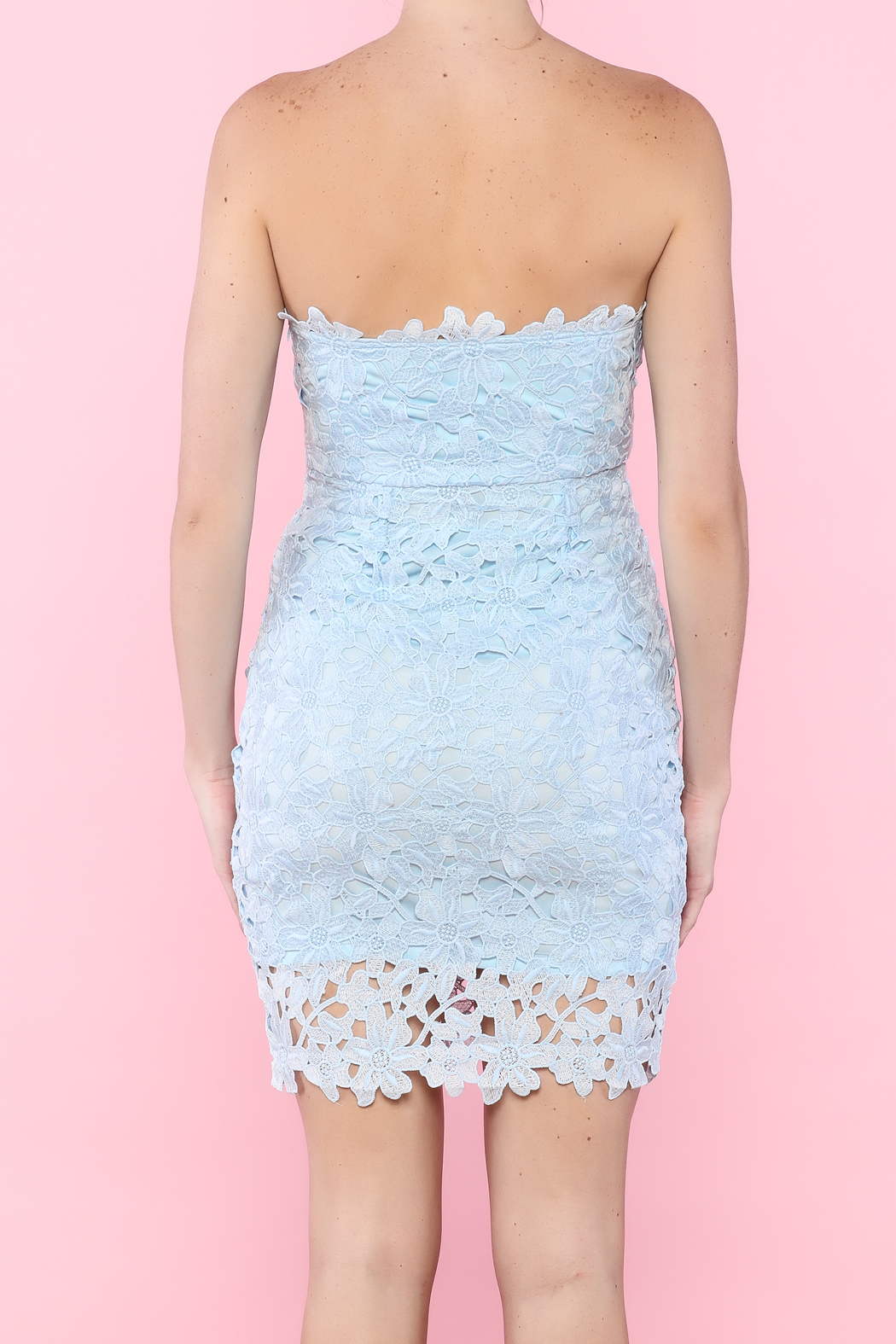 WYLDR Baby Blue Strapless Crochet Dress from Texas by Chic ...