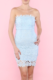 WYLDR  Baby Blue Strapless Crochet Dress - Product Mini Image