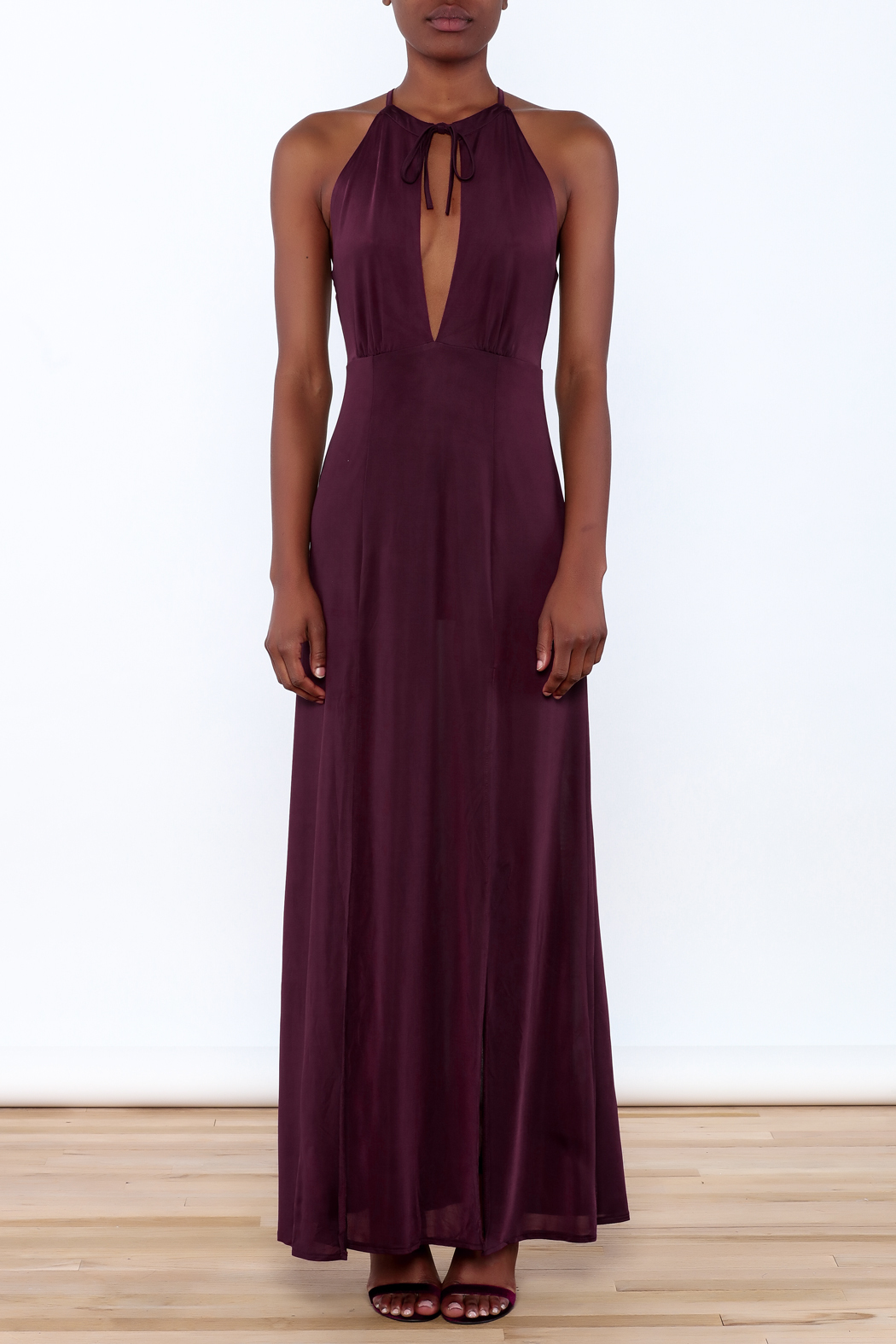 WYLDR  Jersey Maxi Dress - Front Full Image