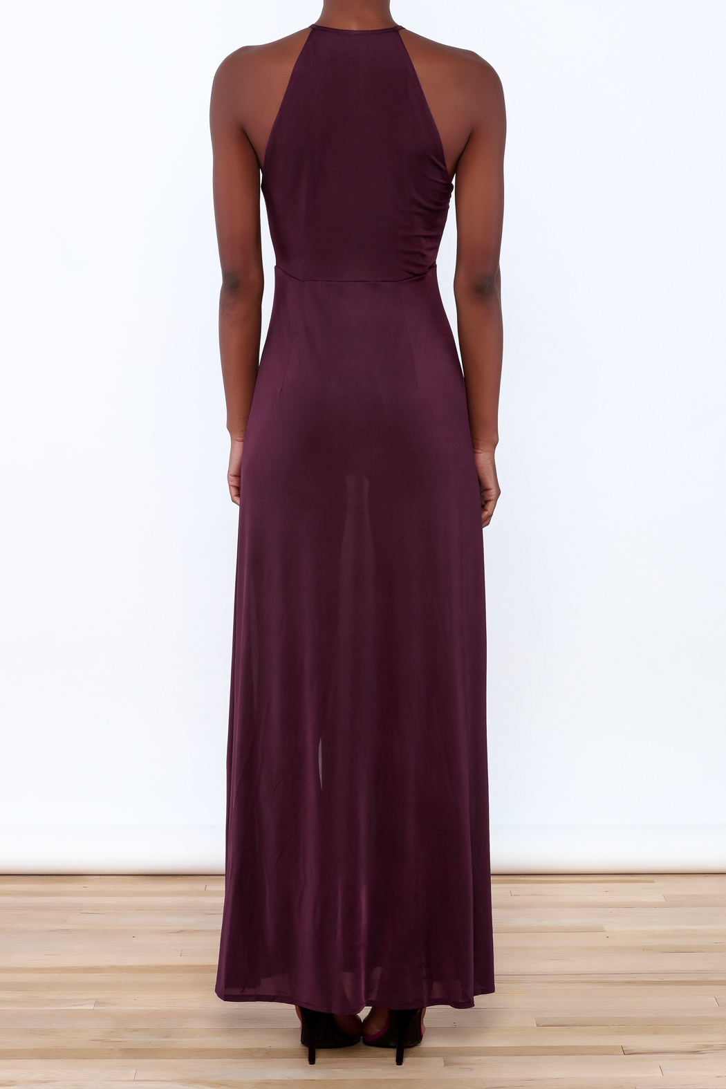 WYLDR  Jersey Maxi Dress - Back Cropped Image