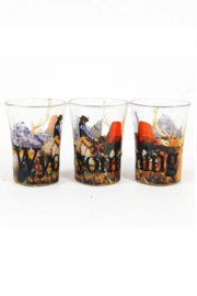 Americanwaree Wyoming Graphic Shot Glass - Side cropped