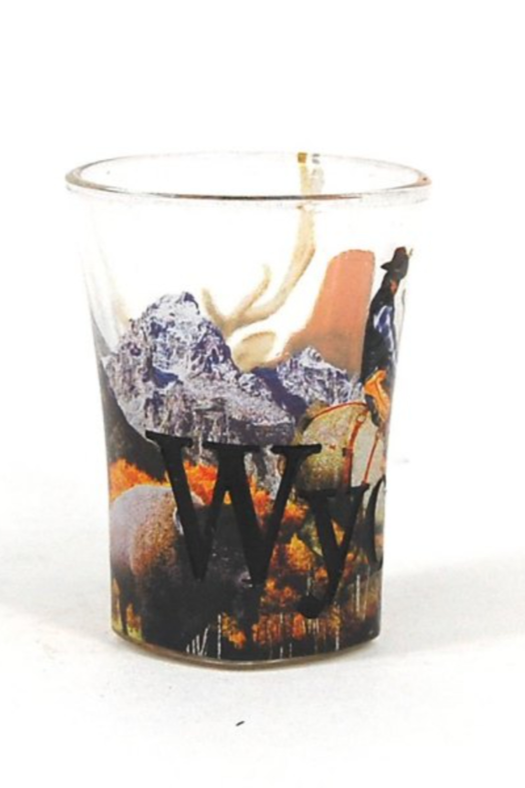 Americanwaree Wyoming Graphic Shot Glass - Front Full Image
