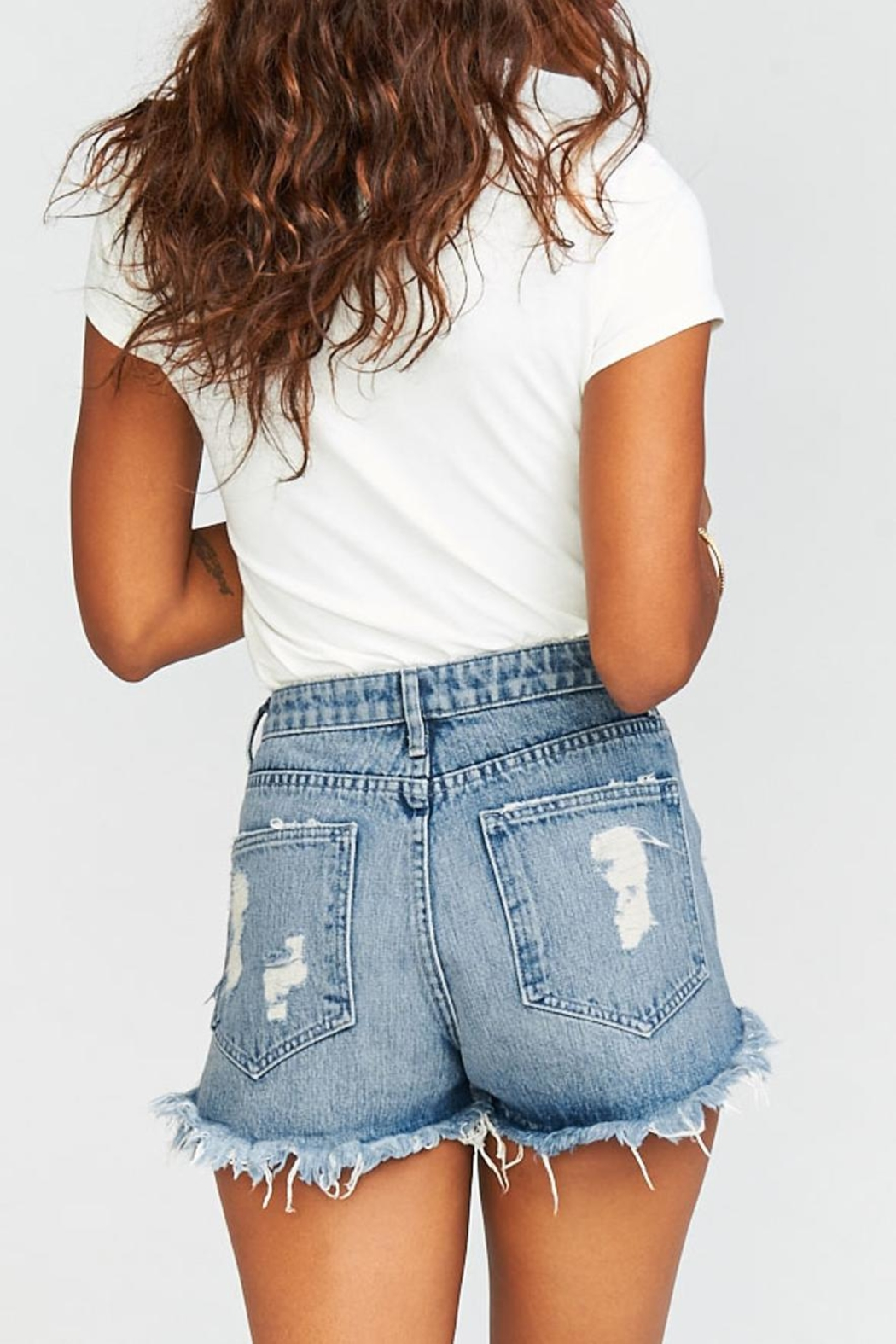 Show Me Your Mumu Wyoming High-Waisted Shorts - Front Full Image
