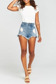 Show Me Your Mumu Wyoming High-Waisted Shorts - Side cropped