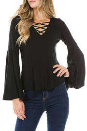 Vava by Joy Hahn X Front Bell Sleeve Top - Product Mini Image