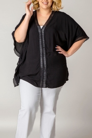 X-Two Black Tunic Top - Product Mini Image
