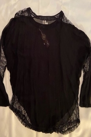 XCVI Black Lace Top - Product Mini Image