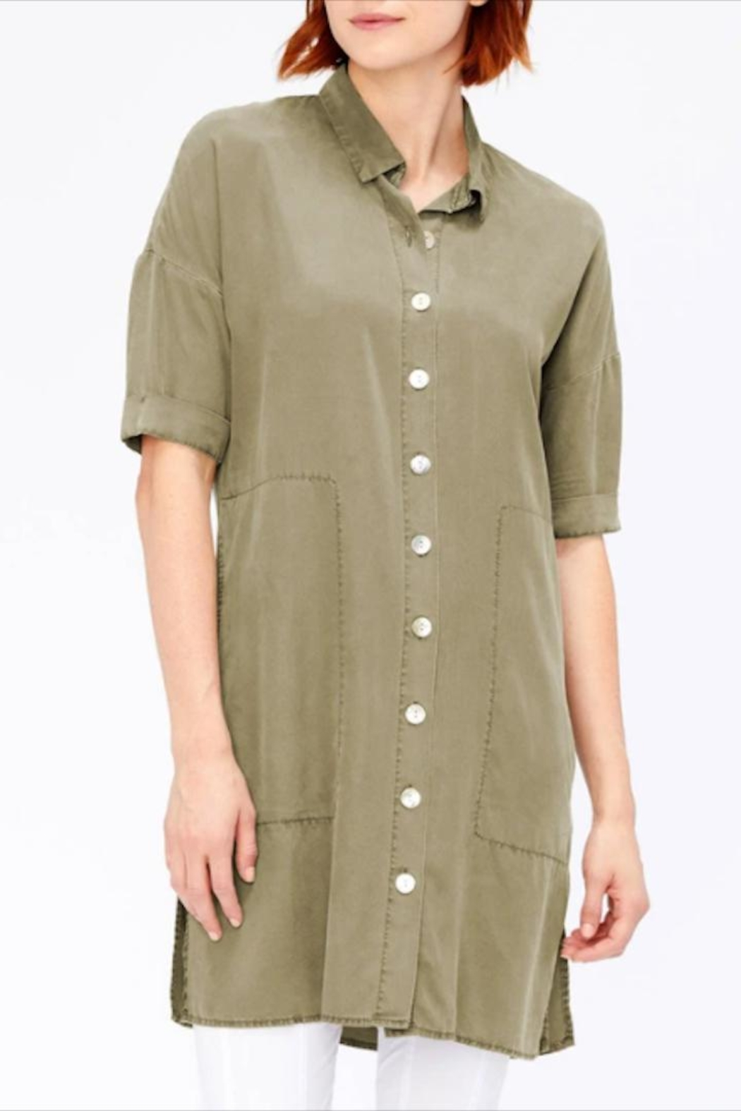 XCVI Button-Down Shirt Dress - Front Cropped Image