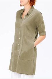 XCVI Button-Down Shirt Dress - Side cropped