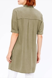 XCVI Button-Down Shirt Dress - Back cropped