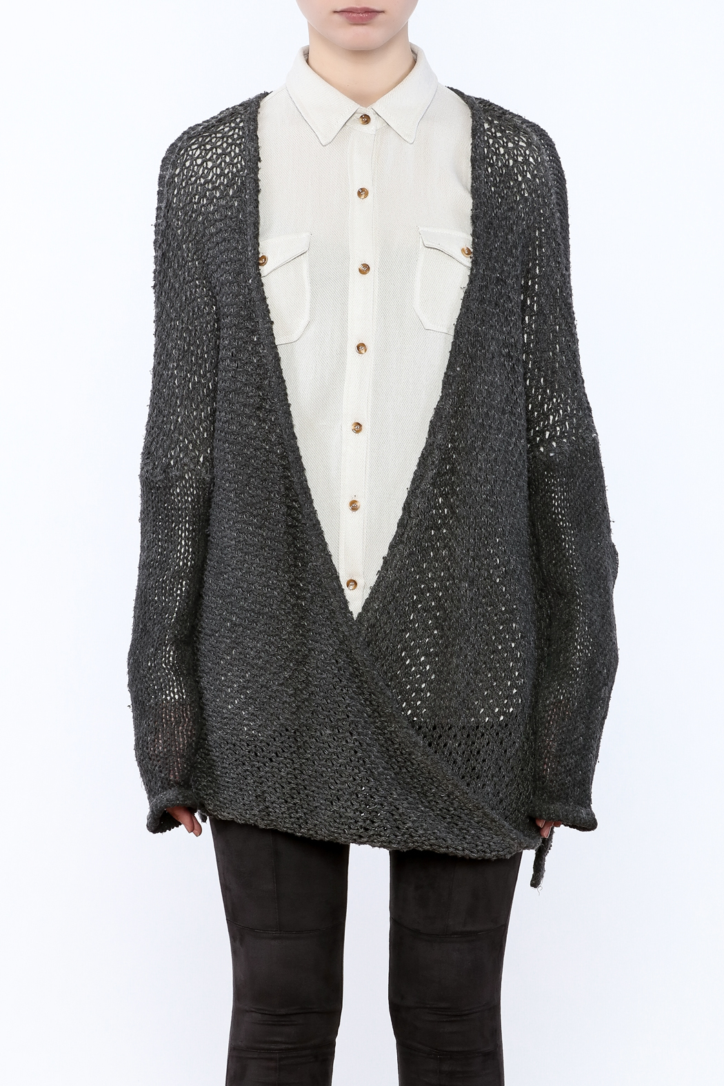 XCVI Long Baggy Sweater - Side Cropped Image