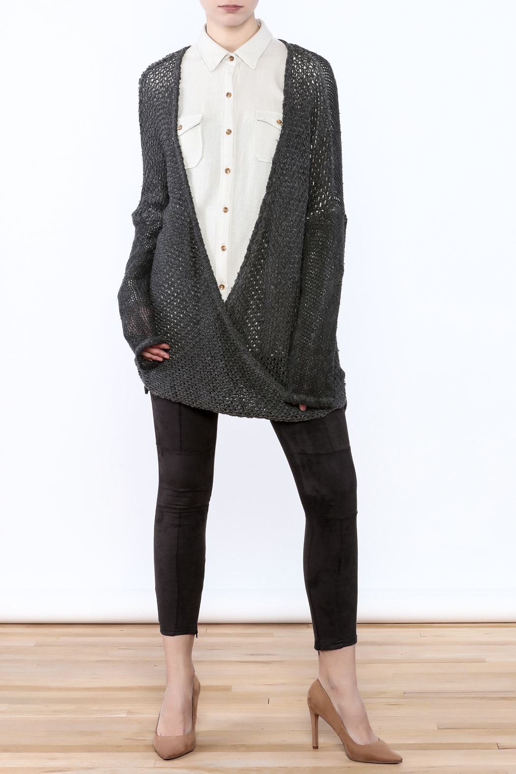 XCVI Long Baggy Sweater - Front Full Image