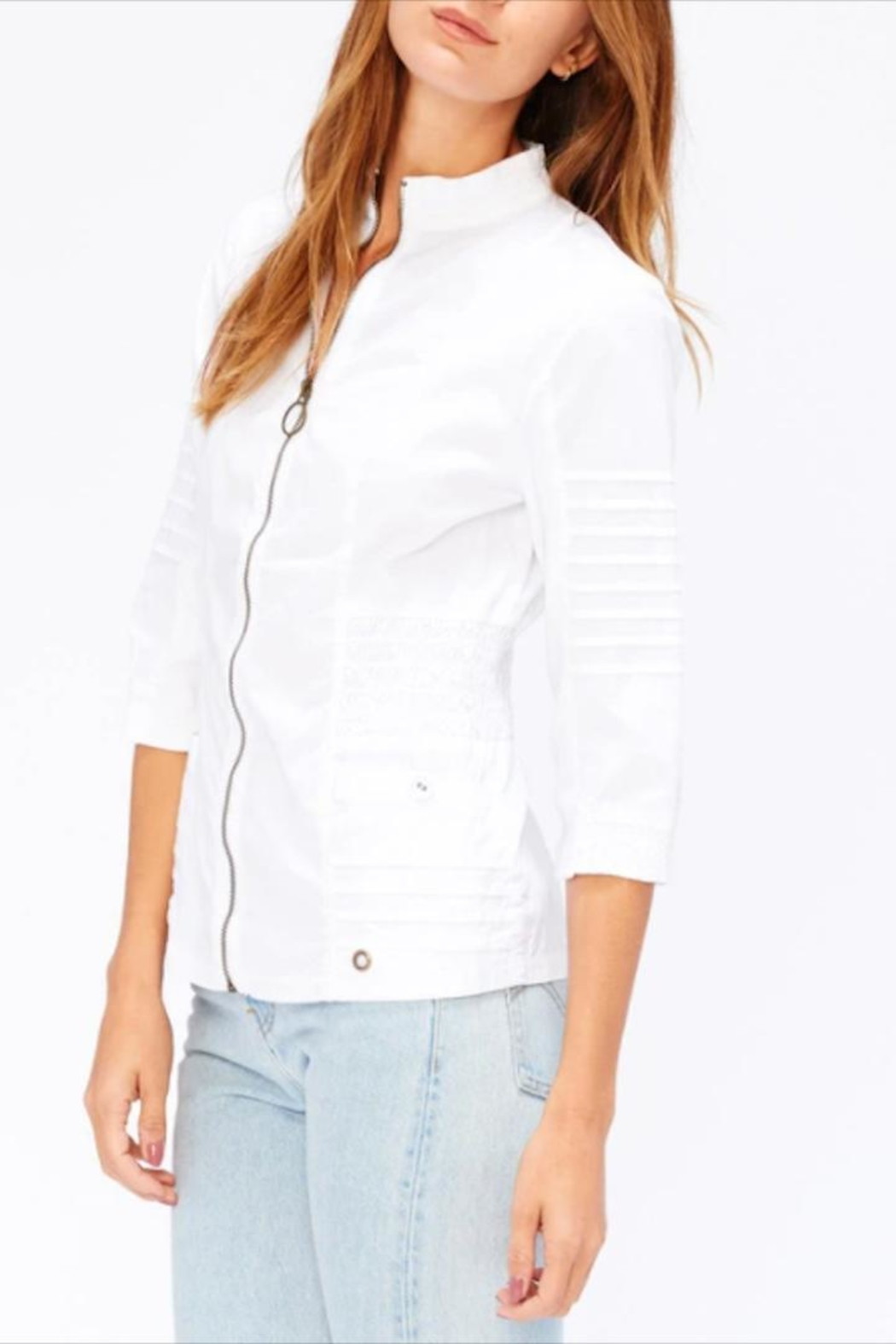 XCVI Shirred Waist Jacket - Front Full Image