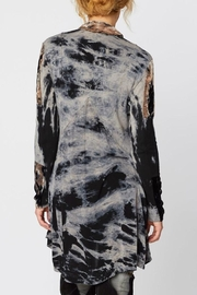 XCVI Tie Dye Velvet Accented Jacket - Front full body