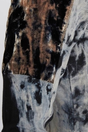 XCVI Tie Dye Velvet Accented Jacket - Back cropped