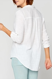 XCVI Wearables Button-Up Cotton Blouse - Side cropped