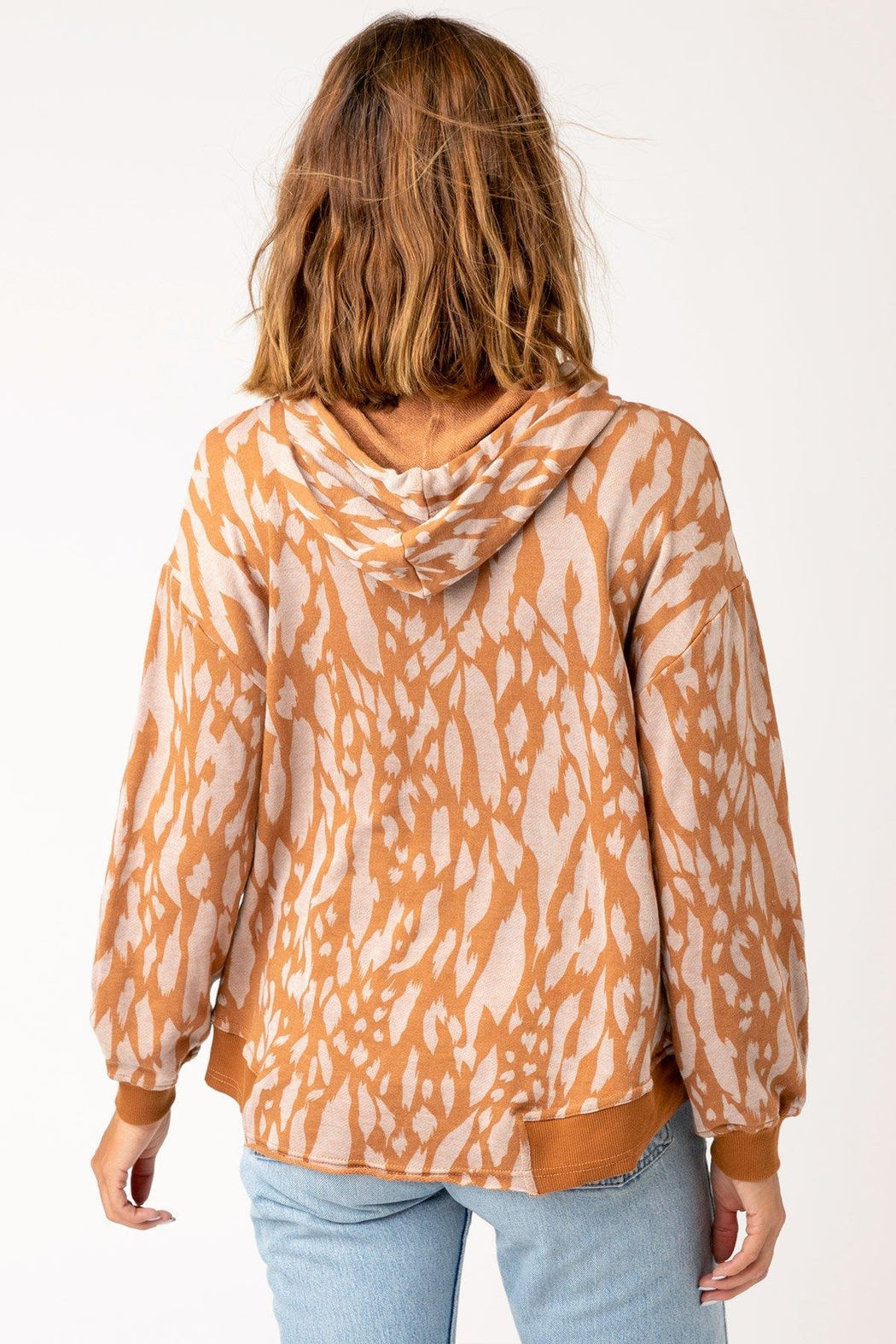 XCVI Wearables Golden Hubbard Riddle Hoodie - Side Cropped Image