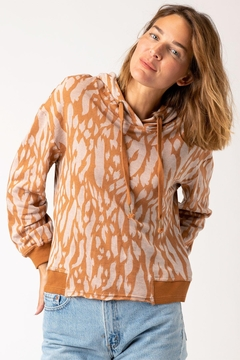 XCVI Wearables Golden Hubbard Riddle Hoodie - Product List Image