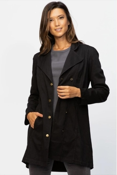 XCVI Wearables Light-Weight Black Trench - Product List Image