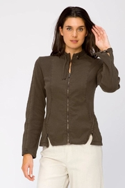 XCVI Wearables Poplin Zip-Up Jacket - Front cropped