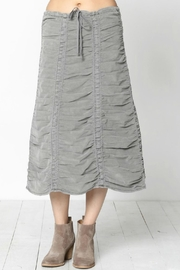 XCVI Wearables Ruched Corduroy Skirt - Front cropped