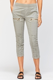 XCVI Wearables Ruched Pull-On Crop - Front cropped