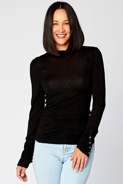 XCVI Wearables Ruched Sleeve Turtleneck - Product List Image