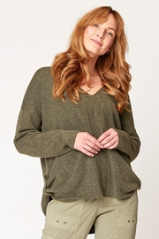 XCVI Wearables Sitka Spruce Mapleton Sweater - Front cropped