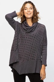 XCVI Wearables Slub Cowl Top - Front cropped