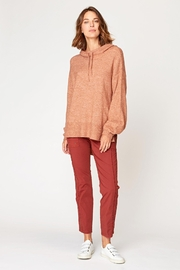 XCVI Wearables Smoked Paprika Tiller Hoodie - Back cropped