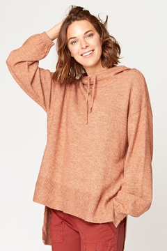 XCVI Wearables Smoked Paprika Tiller Hoodie - Product List Image