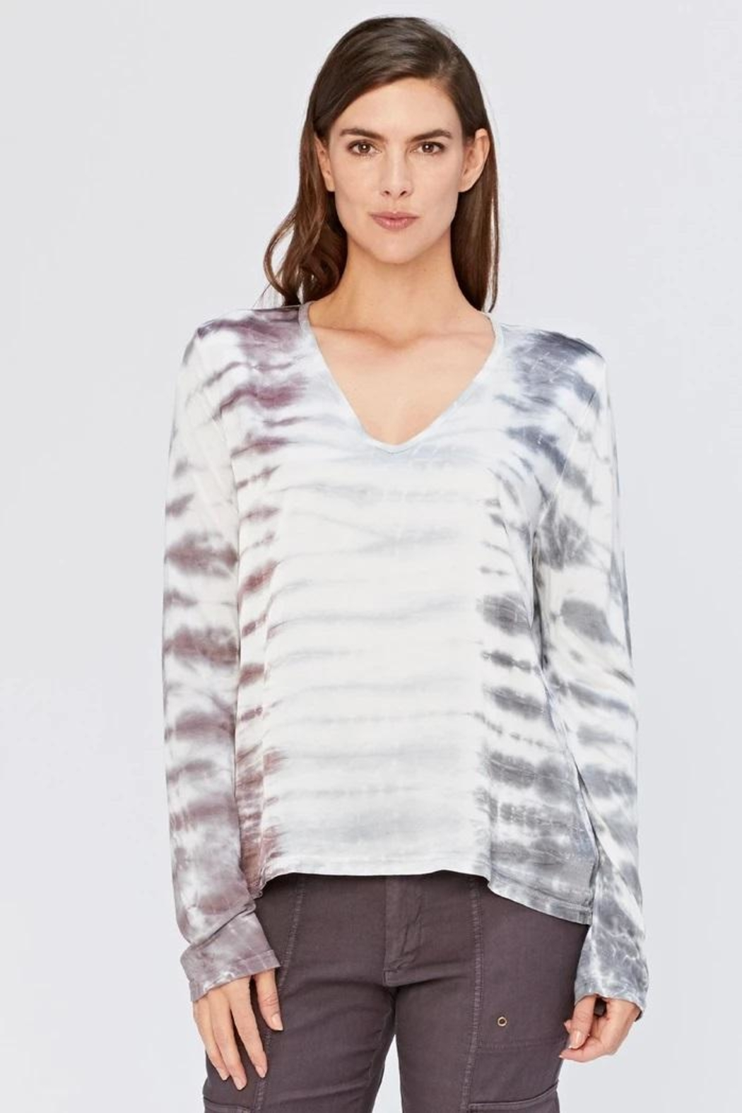 XCVI Wearables Tie-Dye Satin Top - Main Image
