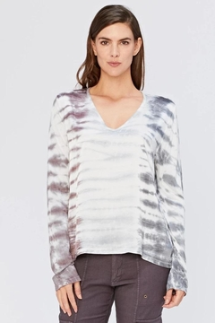 XCVI Wearables Tie-Dye Satin Top - Product List Image