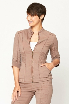 XCVI Wearables Zip Up Jacket With Pockets - Product List Image