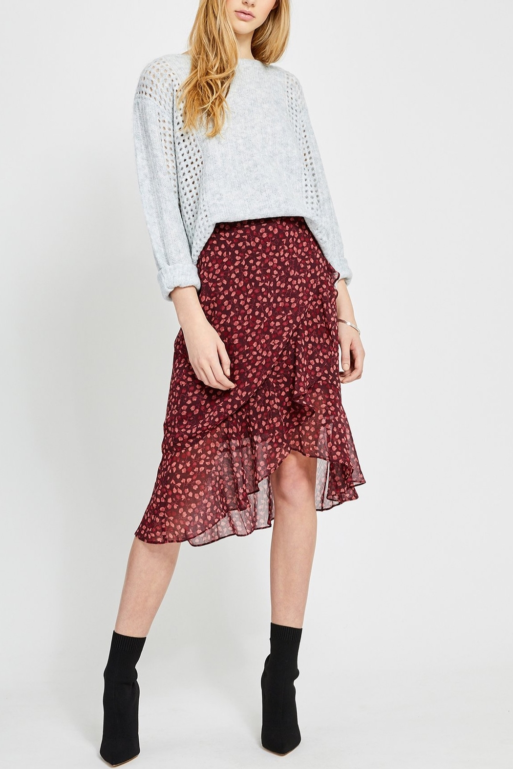 Gentle Fawn Xena Ruffle Skirt - Front Cropped Image