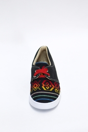 xinknal Black Mexican Sneakers - Front full body