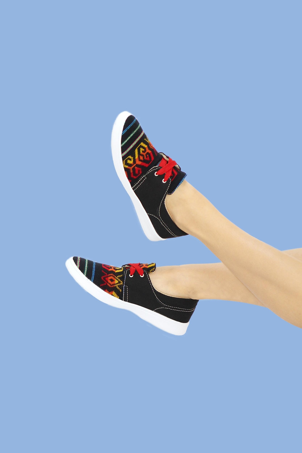 xinknal Black Mexican Sneakers - Main Image