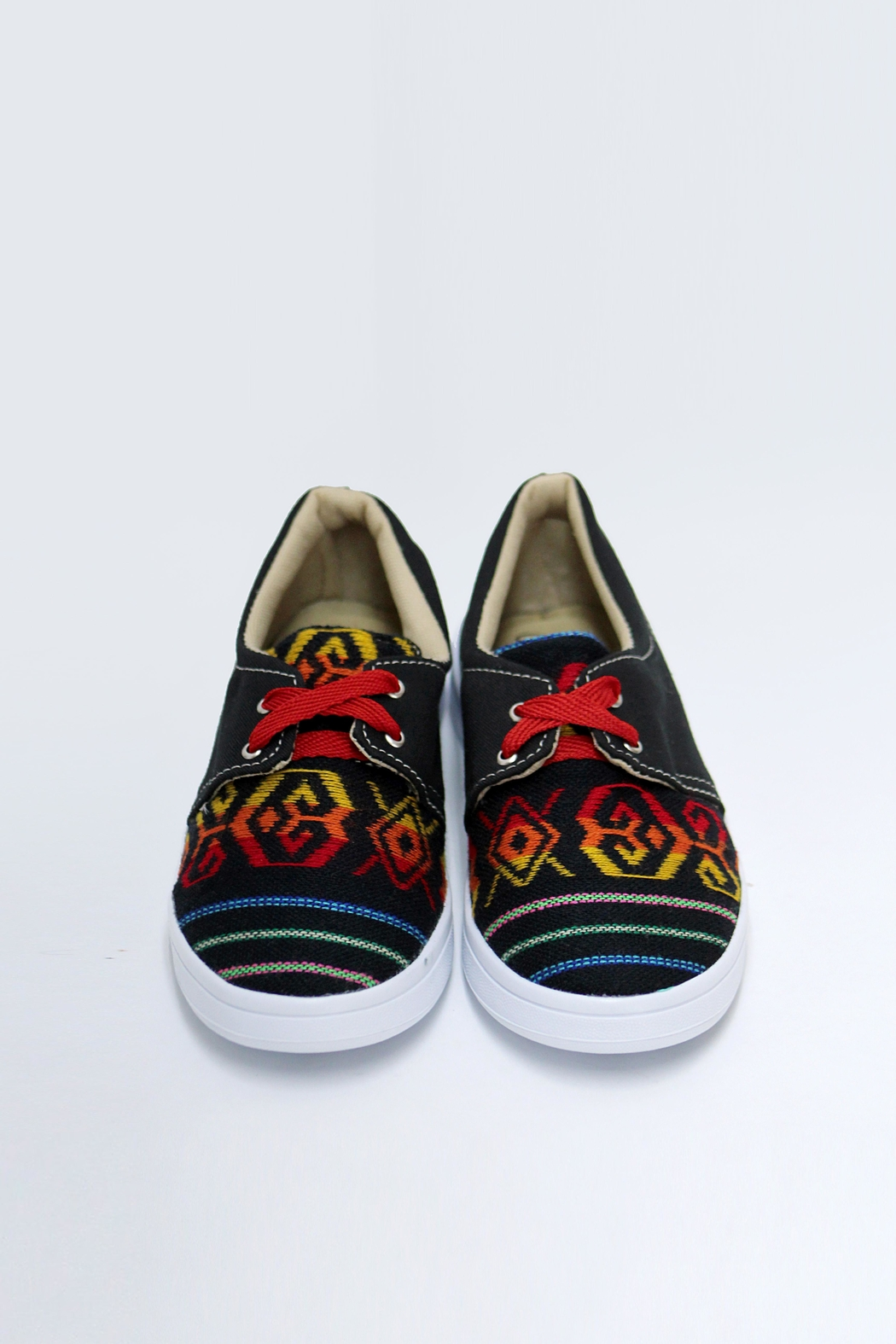 xinknal Black Mexican Sneakers - Back Cropped Image
