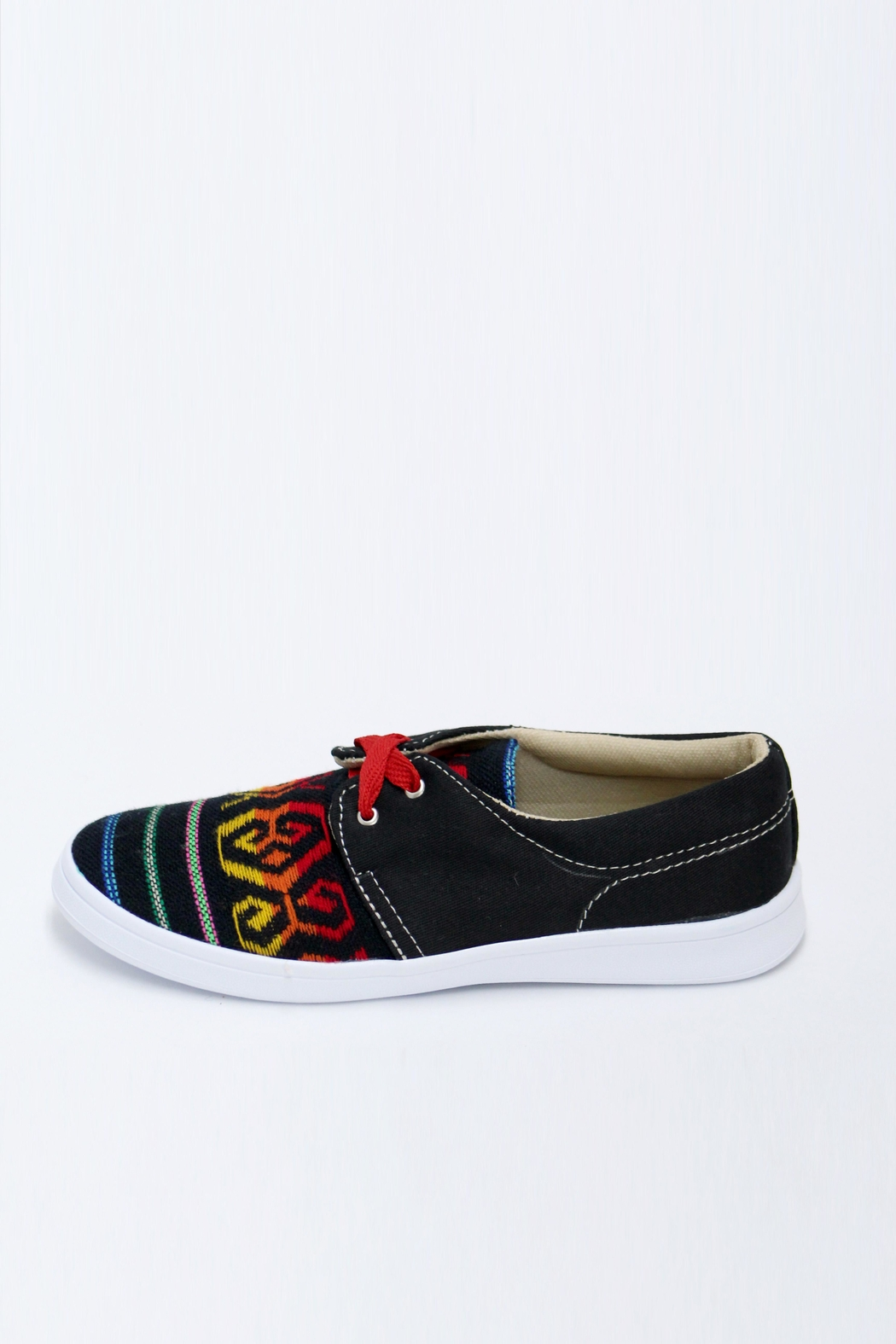 xinknal Black Mexican Sneakers - Side Cropped Image